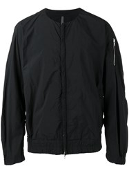 Kazuyuki Kumagai Collarless Tech Bomber Jacket Men Nylon 2 Black