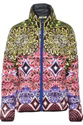 Just Cavalli Kaban Reversible Quilted Printed Shell Jacket Pink