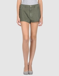 0051 Insight Denim Shorts Military Green