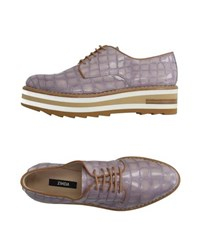 Zinda Footwear Lace Up Shoes Women Lilac