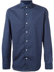Barba Polka Dot Shirt Blue