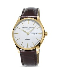 Frederique Constant Classic Quartz Watch 40Mm White Brown