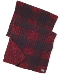 Denim And Supply Ralph Lauren Buffalo Check Reversible Scarf Black Red