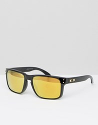 Oakley Square Sunglasses With Yellow Lens Black