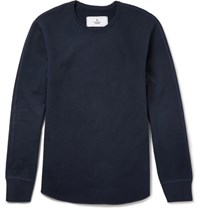 Reigning Champ Loopback Cotton Jersey Sweatshirt Navy