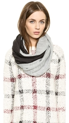 Plush Lined Infinity Scarf Grey