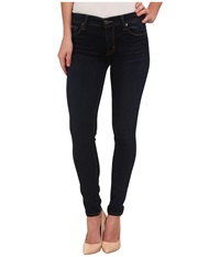 Hudson Nico Mid Rise Super Skinny Jeans In Oracle Oracle Women's Jeans Blue