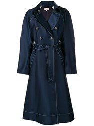 Temperley London Matilde Coat Blue