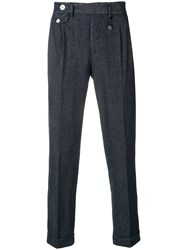 Manuel Ritz Tapered Denim Trousers Blue