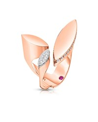 Roberto Coin Petals 18K Rose Gold And Diamond Ring