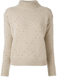Zanone Patterned Pullover Nude And Neutrals