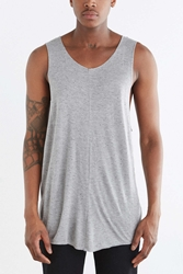 Feathers Raw Edge Racerback Tank Charcoal