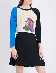 Obey All Evil Jersey Top Blue Multi
