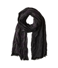 John Varvatos Ombre Plaid Double Face Shadow Scarves Brown
