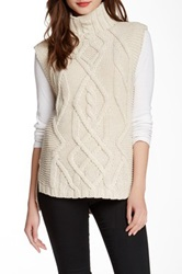 Curio Sleeveless Cable Knit Sweater Beige