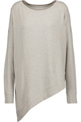 Haute Hippie The Traveler Asymmetric Marled Stretch Modal Sweater Ecru