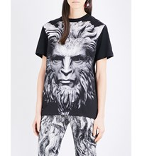 Christopher Kane Beauty And The Beast Cotton And Silk Blend T Shirt Black