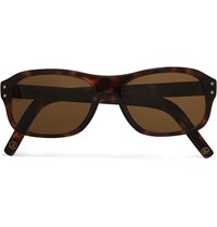 Kingsman Cutler And Gross Square Frame Tortoiseshell Acetate Sunglasses Tortoiseshell