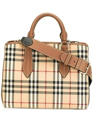 Burberry 'House Check' Shoulder Bag Nude Neutrals