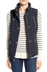 Michael Michael Kors Women's Diamond Quilted Vest New Navy