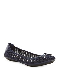 Me Too Felise Bow Ballet Flats Navy Blue