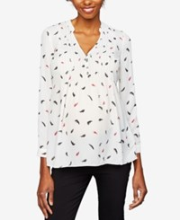 A Pea In The Pod Maternity Printed Blouse Multi Feather Print