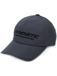 Juun.J 'Synthetic' Embroidered Cap Grey
