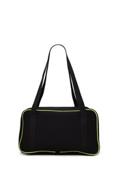 Forever 21 Active Perforated Duffle Bag Black Lime