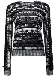 Maiyet Graphic Openwork Jumper Black