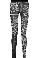 Maison Martin Margiela Printed Stretch Jersey Leggings Black
