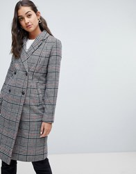 Only Check Coat Cloud Houndstooth Multi