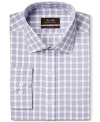 Tasso Elba Non Iron Blue Hairline Texture Check Dress Shirt Only At Macy's