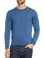 Canali Cashmere And Silk Sweater Blue