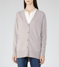 Reiss Tillie Womens Wool And Cashmere Cardigan In Brown