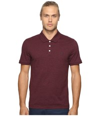 Original Penguin Short Sleeve Jaspe Holiday Polo Mauve Wine Men's Short Sleeve Knit Burgundy