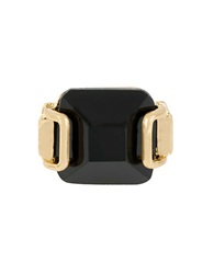 Kenneth Cole Faceted Stone Ring Black