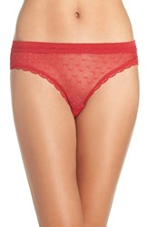 Honeydew Intimates Women's 'Maddie' Swiss Dot Bikini Ruby