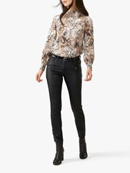 Pure Collection Coated Skinny Jeans Black