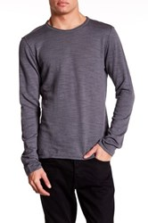 John Varvatos Long Sleeve Crew Neck Sweater Gray