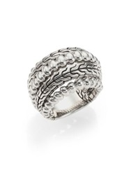 John Hardy Bedeg Sterling Silver Dome Ring