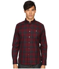 Todd Snyder Red Plaid Shirt Maroon Men's Clothing
