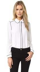 Cooper And Ella Maude Piped Blouse White