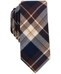 Bar Iii Men's Osage Plaid Tie Only At Macy's Brown