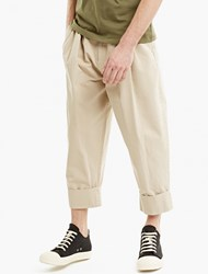 J.W.Anderson Flax Pleat Front Baggy Trousers Beige