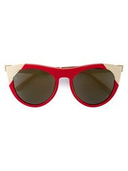 Smoke X Mirrors Zoubisou Cat Eye Sunglasses Red
