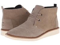 Toms Mateo Chukka Boot Desert Taupe Embossed Suede Men's Lace Up Boots