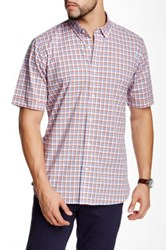 Toscano Plaid Woven Short Sleeve Shirt Multi