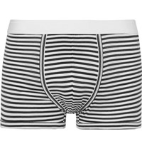 Dolce And Gabbana Striped Cotton Jersey Boxer Briefs Charcoal