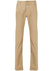 Jacob Cohen 688 Comfort Fit Trousers Brown