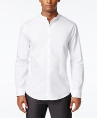 Inc International Concepts Men's Banded Collar Shirt Only At Macy's White